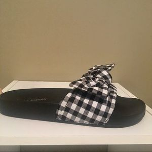 Steve Madden Women's Gingham Slide Sandals SZ 8